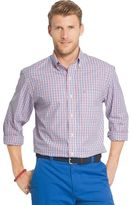 Izod Men's Essential Classic-Fit Tattersall Plaid Button-Down Shirt