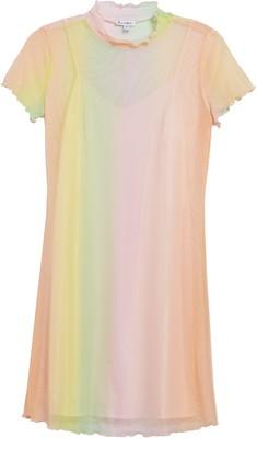 Love, Fire Rainbow Mesh Minidress