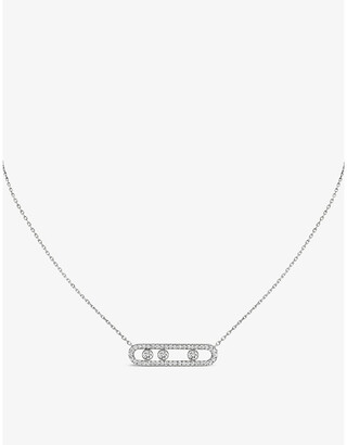 Messika Move Pave 18ct white-gold and diamond necklace