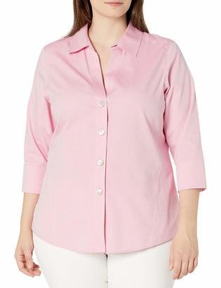 Foxcroft Women's Plus Size Paityn Non-Iron 3/4 SLV. Shirt