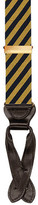 Trafalgar Striped Silk Suspenders