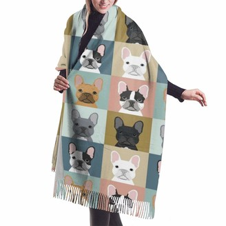 Gong French Bulldog Pattern 1 Casual And Formal Scarves Soft Cashmere Pashmina Shawl Wrap for Women Girls