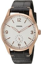 Fossil Mens FS5247 Vintage 54 Two-Hand Sub-Second Black Croco Leather Watch