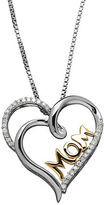 Lord & Taylor Diamond, Sterling Silver and 14K Yellow Gold Mom Pendant Neckalce