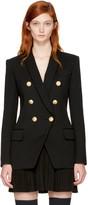Balmain Black Long Six-button Blazer