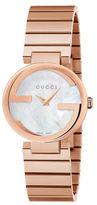 Gucci Interlocking Rose Goldtone Stainless Steel Watch, YA133515