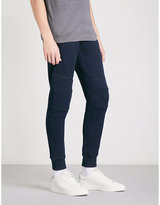 The Kooples Slim-fit Tapered Cotton-jersey Jogging Bottoms