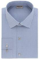 Kenneth Cole Reaction Men's Big and Tall Slim-Fit Techni-Cole Performance Blue Check Dress Shirt