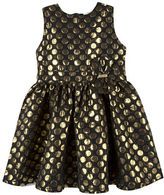 Andy & Evan Girls 2-6x Jacquard Dot Dress