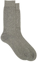 Barneys New York Men's Micro-Dot-Pattern Mid-Calf Socks-GREY