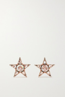 Selim Mouzannar Istanbul 18-karat Rose Gold Diamond Earrings - one size