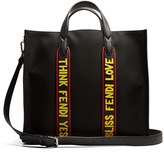 Fendi Logo-embossed contrast-panel nylon tote