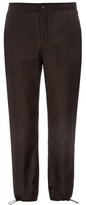 Acne Studios Pace Drawstring-cuff Flannel-wool Trousers