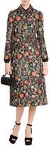 RED Valentino Capotto Floral Print Coat