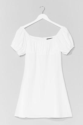 Nasty Gal Womens Dancing Days Puff Sleeve Mini Dress - White - 6, White