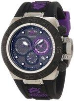 Invicta Women's 10155 Subaqua Noma IV Chronograph Black Dial Black and Purple Silicone Watch