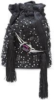 Khirma Eliazov Khirma x Swarovski embroidered bucket crossbody bag - women - Calf Leather/Silk Satin - One Size