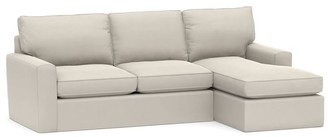 Pottery Barn Pearce Square Arm Slipcovered Sofa with Chaise Sectional