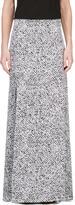 Richard Nicoll Black and White Crepe De Chine Maxi Skirt