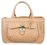 Furla Embossed Handle Bag