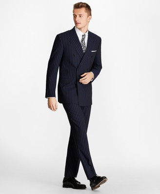 Brooks Brothers Regent Fit Double-Breasted Pinstripe 1818 Suit
