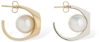 Maison Margiela Hoop Earrings W/ Imitation Pearls