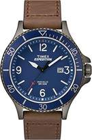 Timex Men's Expedition Ranger Blue Dial with a Brown Leather Strap Watch TW4B10700