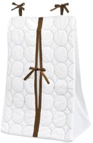 Bacati Quilted Circles White/Chocolate Diaper Stacker