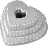 Nordicware Tiered Heart Bundt Pan - Silver