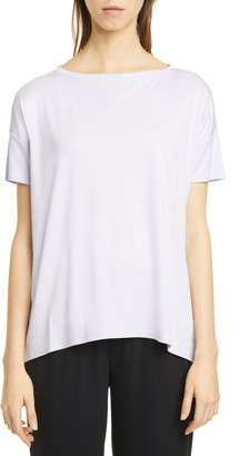 Eileen Fisher Boat Neck Short Sleeve T-Shirt