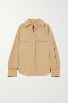 ANNA QUAN Stefano Stretch-cotton Twill Shirt - Sand