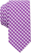 Bar III Men's Mulberry Check Skinny Tie, Only at Macy's