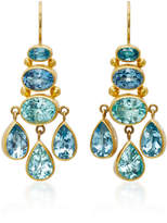Mallary Marks Aquamarine and Paraiba Tourmaline Chandelier Earrings