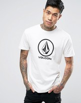 Volcom Circle Stone Logo T-Shirt in White Paint