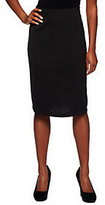As Is Susan Graver Solid Milano Knit Pull-on Skirt