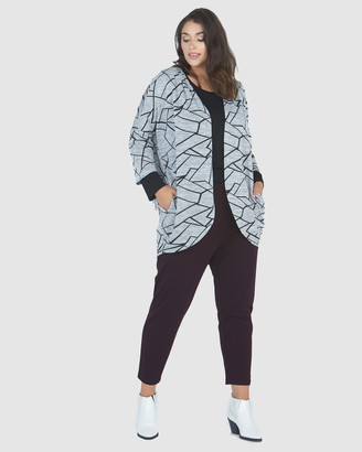 Advocado Plus - Women's Black Cardigans - Pleated Shoulder Cardigan - Size One Size, 16 at The Iconic