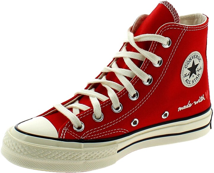 Thumbnail for your product : Converse Hi 70s Trainers University Red Egret Love - 4.5 UK