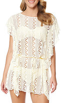 Jessica Simpson Woodstock Solid Flutter Crochet Cover-Up