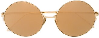 Linda Farrow Gold 565 C1 Round Sunglasses
