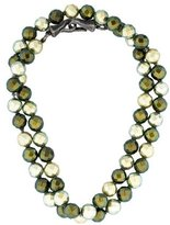 Bottega Veneta Faceted Bead Necklace