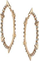 Topshop Rhinestone Spike Hoop Earrings