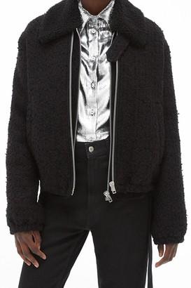 Helmut Lang Wool Tweed Zip Front Jacket
