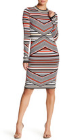Romeo & Juliet Couture Long Sleeve Printed Knit Dress