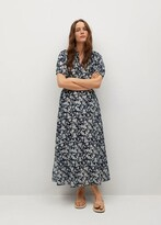 Thumbnail for your product : MANGO Printed ruched dress