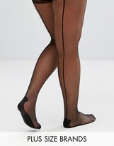 Pretty Polly Plus Backseam Tights