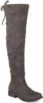 Journee Collection Gray Mount Wide-Calf Over-the-Knee Boot