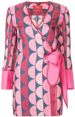 F.R.S For Restless Sleepers Aisa geometric print blouse