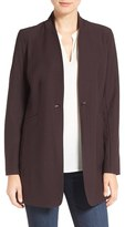 Eileen Fisher Women's Washable Stretch Crepe Stand Collar Jacket