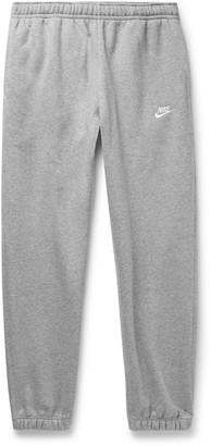Nike Sportswear Club Tapered Fleece-Back Cotton-Blend Jersey Sweatpants