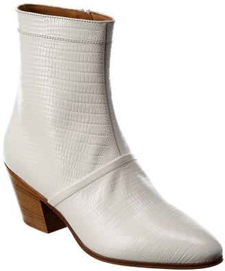 Celine Cubaine Croc-Embossed Leather Boot